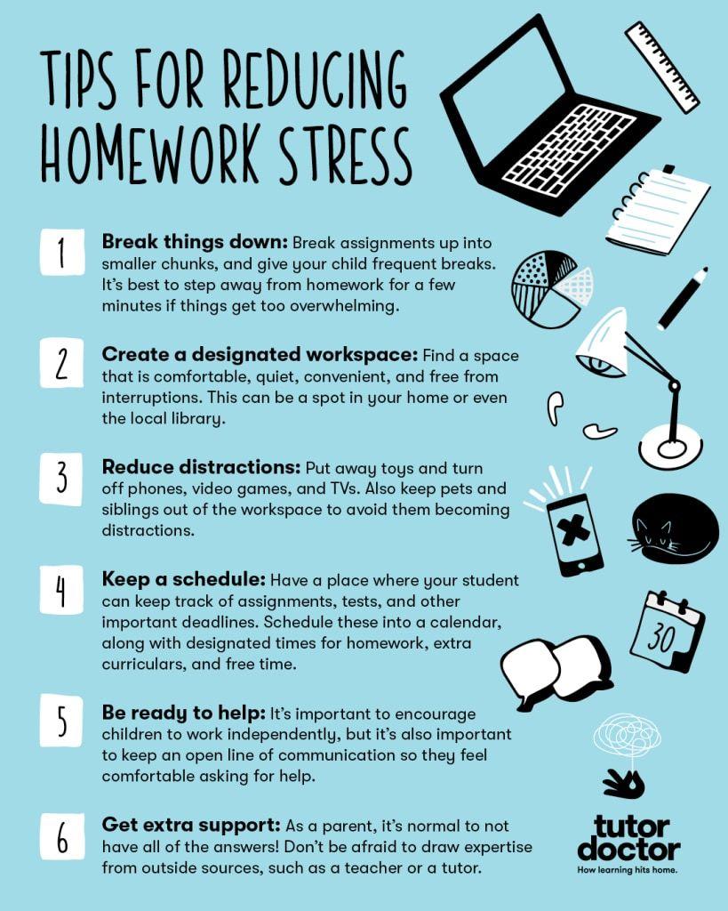 Tips for reducing homework stress